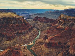 Birds eye view of Grand Canyon