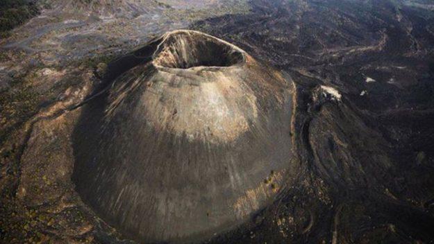 Birds eye view of the volcano Paricutin
