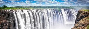 Panoramic picture of Victoria Waterfall