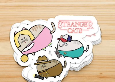 STRANGER CATS || Stickers