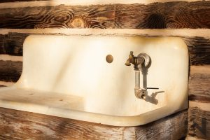 Camping-By-The-Tetons-Vintage-Sink