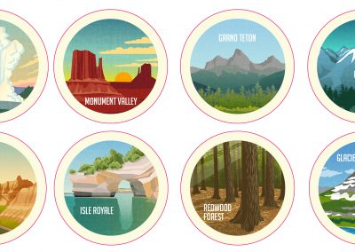 NATIONAL PARKS STICKERS || Design Competition